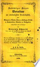 Andächtiger Hertzen Beth-Altar zur allerheiligsten Dreyfaltigkeit, etc
