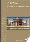 Lezioni di matematica 2005