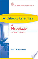 Architect s Essentials of Negotiation