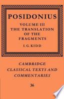 Posidonius Volume 3 The Translation Of The Fragments