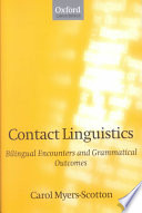 Contact Linguistics