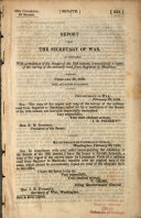 Report from the Secretary of War, in Compliance with a Resolution of the Senate of the 19th Instant, Transmitting a Report of the Survey of the Military Road from Saginaw to Mackinac, Feb. 26, 1838 ...