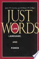 Ebook Just Words Epub John M. Conley,William M. O'Barr Apps Read Mobile