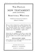 The people s New Testament  new covenant  scriptural writings