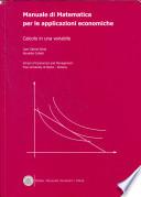 Manuale di matematica per le applicazioni economiche.