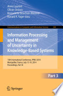 Information Processing And Management Of Uncertainty book