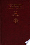 A Basic Bibliography For The Study Of The Semitic Languages