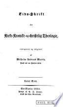 Tids-skrift for kirke-krønike og christelig Theologie