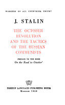 The October Revolution and the Tactics of the Russian Communists