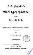 F  C  Schlosser s Weltgeschichte f  r das deutsche Volk