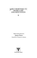 Early responses to Hume's life and reputation