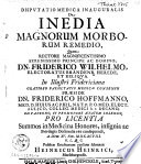 Disputatio medica inauguralis De inedia magnorum morborum remedio