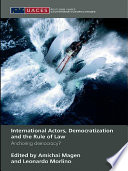 International Actors  Democratization and the Rule of Law