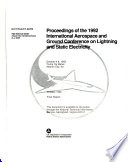 Proceedings of the 1992 International Aerospace and Ground Conference on Lightning and Static Electricity Book PDF