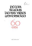 Pētera Stučkas Latvijas Valsts universitātei 60 gadi