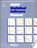 BMDP Statistical Software Manual