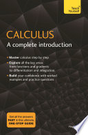 Calculus  A Complete Introduction