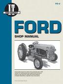 Ford Shop Manual Series 2N 8N   9N