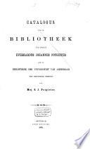 Catalogus van de bibliotheek van wijlen Everhardus Johannes Potgieter
