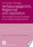 Verfassungsgericht, Regierung und Opposition