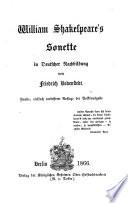 Sonette in Deutscher Nachbildung von Friedrich Bodenstedt
