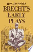 Brecht S Early Plays