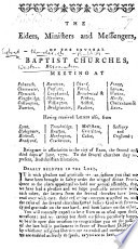 Begin  The Elders  Ministers  and Messengers of the several Baptist Churches  meeting at Falmouth  and elsewhere      being met in association in the city of Exon the second and third days of June  1779  To the several Churches they represent  send Christian salutation   The circular letter of the Western Association  on    the privileges of Christians     By John Tommas