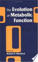 The Evolution Of Metabolic Function book