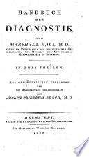 Handbuch der Diagnostik ... übersetzt und mit Anmerkungen hrsg. von Adolph Friedrich Bloch