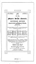 Meyer's British Chronicle, a universal review of british literature