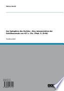 Der Epitaphios des Perikles - Eine Interpretation der Gefallenenrede von 431 v. Chr. (Thuk. II, 35-46)