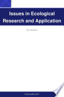 Issues in Ecological Research and Application  2012 Edition