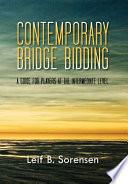Contemporary Bridge Bidding