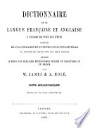 Dictionnaire de la langue fran  aise et anglaise    l usage de tous les   tats enrichi de l accentuation et d une prononciation litt  rale
