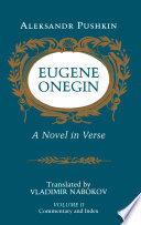 Eugene Onegin  Commentary and index