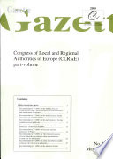 Gazette Congress of Local and Regional Authorities of Europe May 2000, No. II/2000
