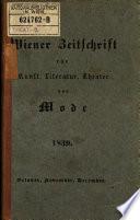 Wiener-Moden-Zeitung und Zeitschrift für Kunst, schöne Literatur und Theater
