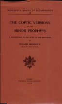 The Coptic Versions of the Minor Prophets
