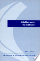 Global Governance The Next Frontier Egmont Paper 2