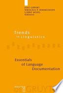 Essentials of Language Documentation