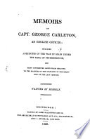 Memoirs of Capt  G  Carleton  an English Officer