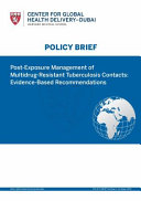 Post Exposure Management Of Multidrug Resistant Tuberculosis Contacts