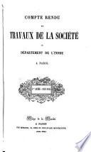 Compte rendu des travaux de la Société du Berry à Paris