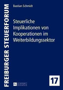 Steuerliche Implikationen Von Kooperationen Im Weiterbildungssektor