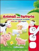 Animali della fattoria  Disegna con il pennarello cancellabile  Gioca con i 35 magneti