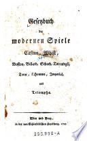 Gesetzbuch Der Modernen Spiele Casino Whist Boston Billard Schach Toccategli Taroc L Homme Imperial Und Triomphe