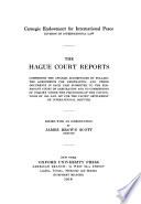 The Hague Court Reports  1st  2d Series