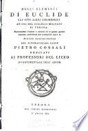 Degli elementi di Euclide