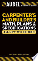 Audel Carpenter s and Builder s Math  Plans  and Specifications