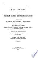 Kritisk exposition af Benjamin H  ijers konstruktionsfilosofi i relation till den samtida transscendentala spekulationen
